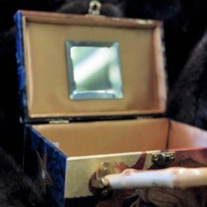 Decoupage Box Purse w/ Beveled Mirror